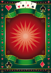 Poker game poster