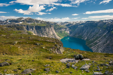 View of lake Ringedalsvatnet, Norway