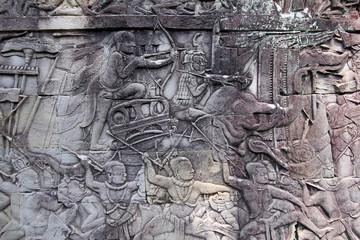 Fresque temple d' Angkor