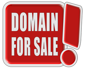 !-Schild rot quad DOMAIN FOR SALE