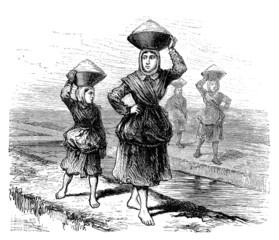 Women : Rural Workers - 19th century