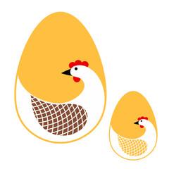 Hen. Logo