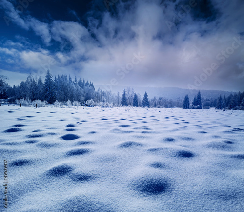 winter snow covered landscape