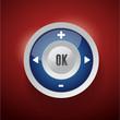 Control Web Element Button blue