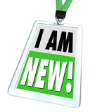I Am New Badge Lanyard Introduction Meet Networking