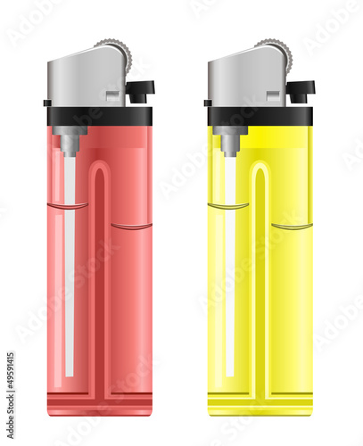 Colored lighters. Vector illustration