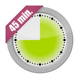 button uhr 45 min. 1