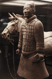 Terracotta warrior with horse, China