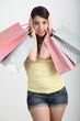 Ragazza con shopper