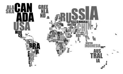 Weltkarte in Worten © Dirk Vonten