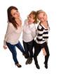 Three trendy female friends