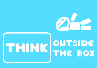 think outside the box message card