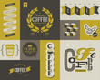 Coffee labels and badges. Collection of vector design elements