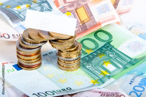 Geld mit Blankoschild