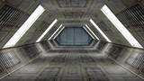 Fototapety Futuristic Interior. SCIFI. Science Fiction