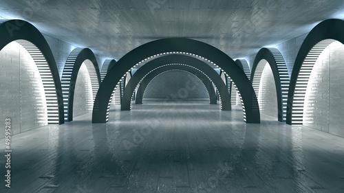 Futuristic Interior. SCIFI. Science Fiction