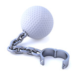 Golf ball and chain