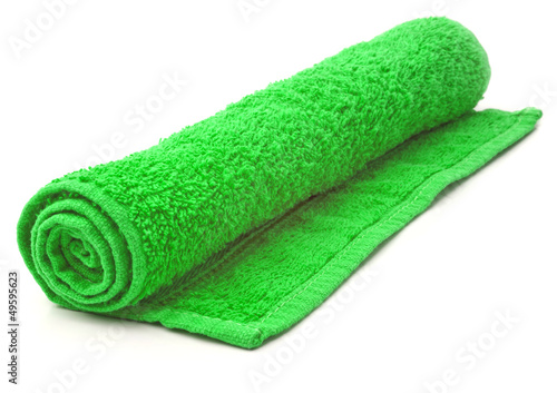 Rolled Towel on white background.