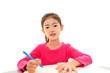 勉強を楽しむ女の子