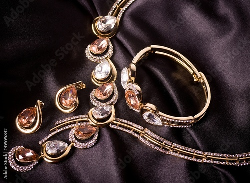 Beautiful jewelry on background