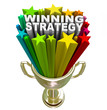 Winning Strategy Gold Trophy Words Winner Plan