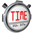 Time Word on Stopwatch Record Your Speed and Acceleration
