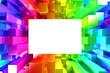 Rainbow of colorful blocks