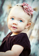 Blue eyed toddler