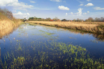 Fenland in Cambridgeshire, England