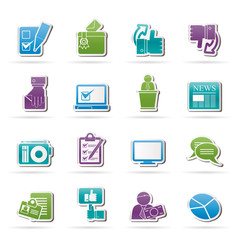 Voting and elections icons - vector icon set