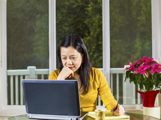 Mature woman working from Home Office