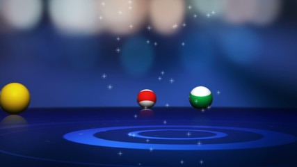Pool Balls and Pool Tournament Text - HD1080