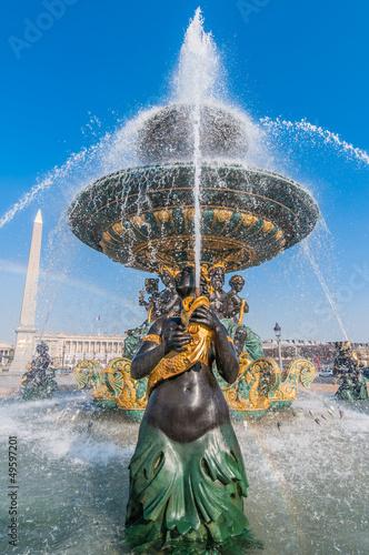 place de la concorde foutain paris city France