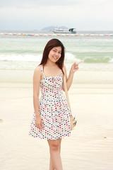 lady on Koh Larn Island