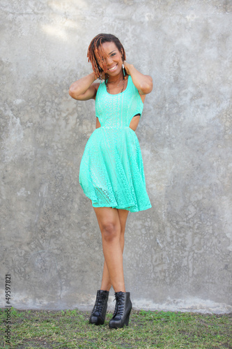 Stock image of a beautiful African American model