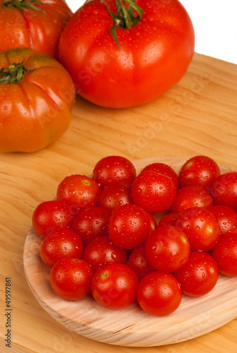 Cherry and  bigger tomatoes