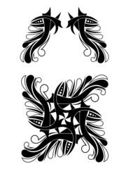Elegant Black-white Tribal Tattoo Design