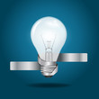 Creative Template with light bulb banner, infographics vector