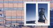 brick and glass facade