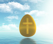 golden egg with cross