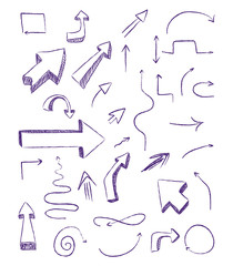 doodle arrows as design elements