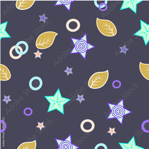 pattern with stars and leaves