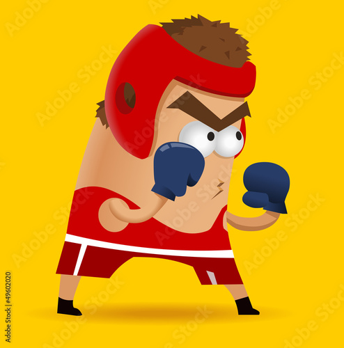 Amateur Boxing on training