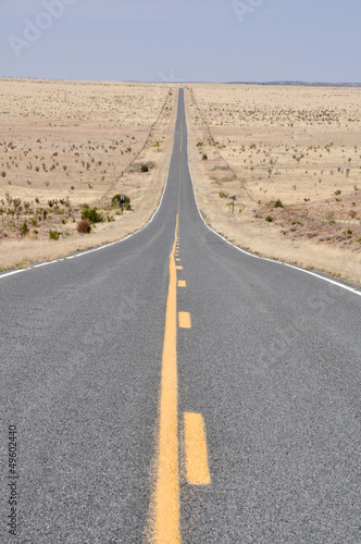 Road in the desert of New Mexico