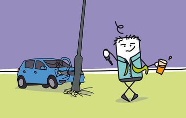 Accident de la route suite à alcoolémie au volant