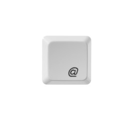 button email white keyboard