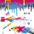 CMYK splashes