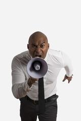 Shouting businessman