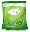 A pack of frozen peas