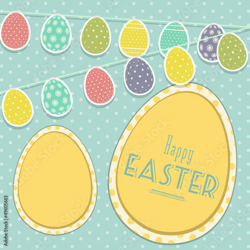 Easter vintage background with egg bunting